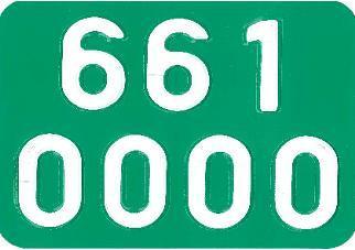 taxa nummerplade